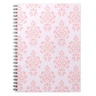 Crest Damask Repeat Pattern Pinks Notebooks