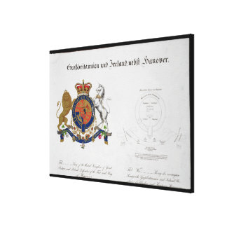 Crest of the King of the United Kingdom of Great B Canvas Print