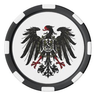 Crest Poker Chip Cornish Cornwall Chough Shield Set Of Poker Chips