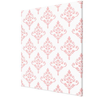 Cresta Damask Pattern (B) Pink Canvas Print