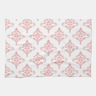 Cresta Damask Pattern (B) Pink Kitchen Towel