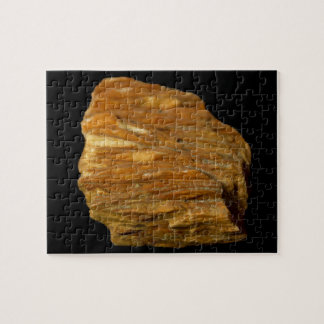 Crested Barite Mineral Photo on Black Jigsaw Puzzle