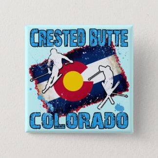 Crested Butte, Colorado 2 Inch Square Button