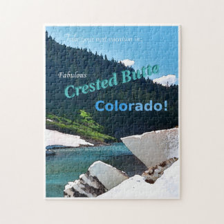 Crested Butte, Colorado Vintage Style Puzzle