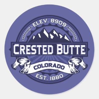 Crested Butte Midnight Classic Round Sticker