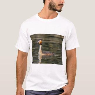 Crested grebe, podiceps cristatus, duck T-Shirt
