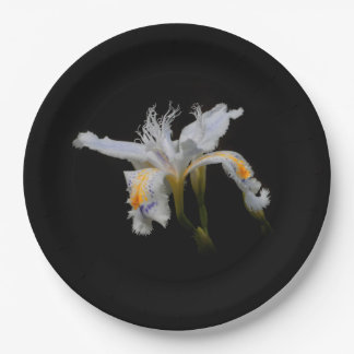 Crested Iris Paper Plate