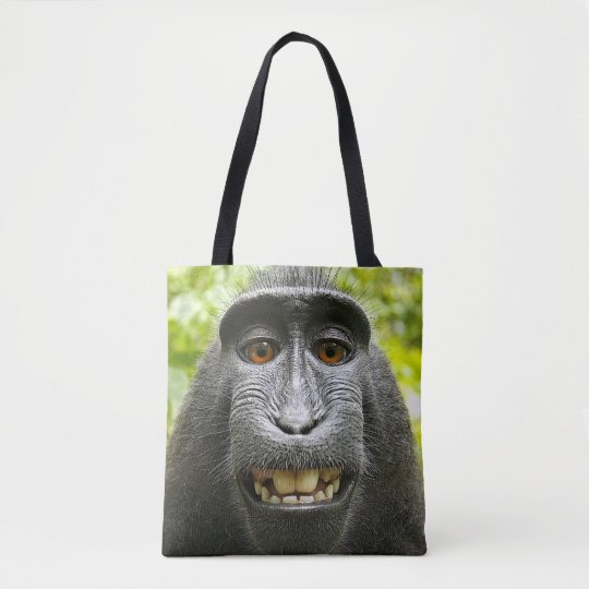 Crested Macaque Monkey Tote Bag