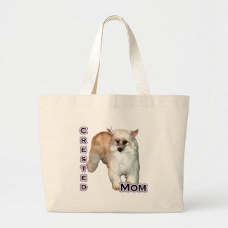 Crested(powder) Mom 4 Large Tote Bag