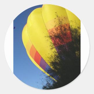 Crested Yellow Round Sticker