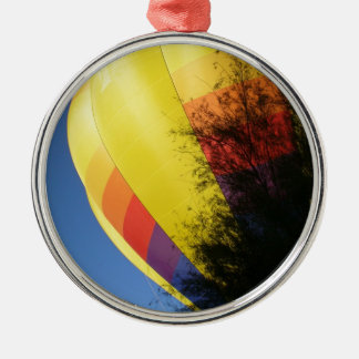 Crested Yellow Silver-Colored Round Ornament