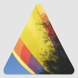 Crested Yellow Triangle Sticker