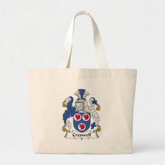 Creswell Family Crest Jumbo Tote Bag