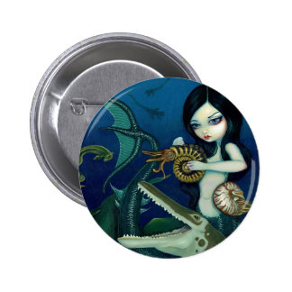 """Cretaceous Mermaid"" Button"