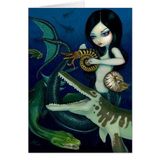 """Cretaceous Mermaid"" Greeting Card"