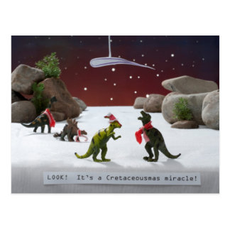 Cretaceousmas Miracle Postcard
