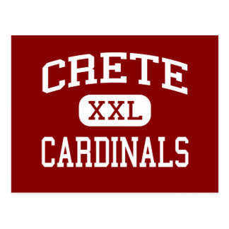 Crete - Cardinals - High School - Crete Nebraska Postcard