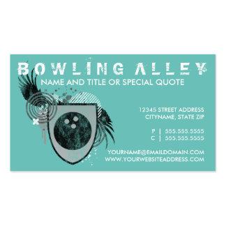crête de bowling (couleur personnalisable) carte de visite standard