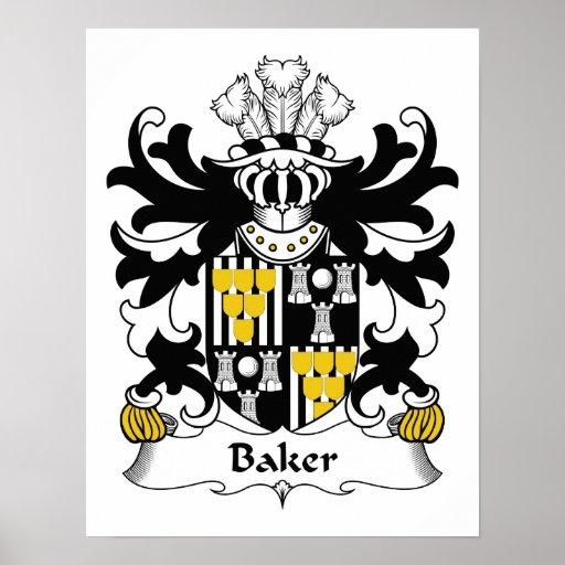 Crête de famille de Baker Poster