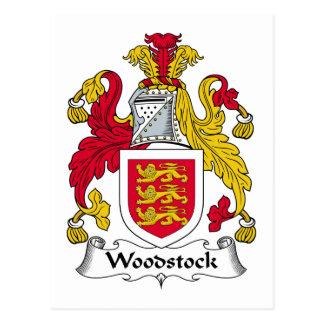Crête de famille de Woodstock Carte Postale
