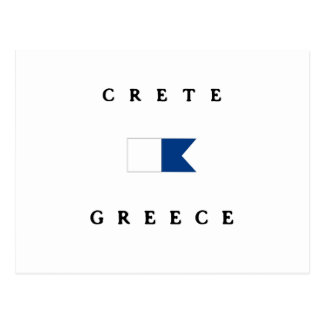 Crete Greece Alpha Dive Flag Postcard