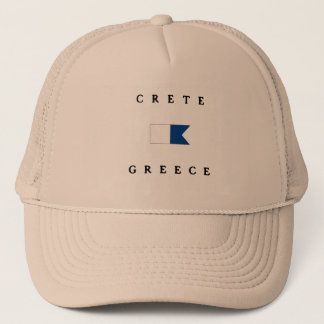 Crete Greece Alpha Dive Flag Trucker Hat