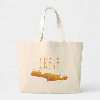 Crete Map Large Tote Bag