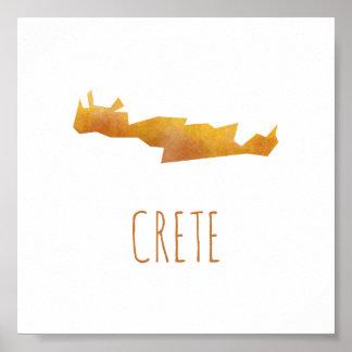 Crete Map Poster
