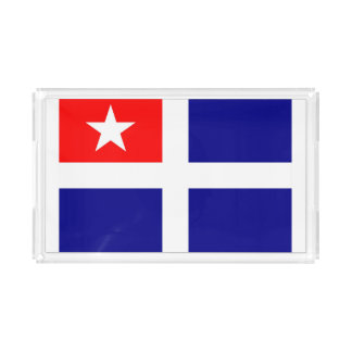 crete region flag greece symbol acrylic tray