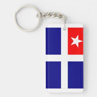 crete region flag greece symbol keychain