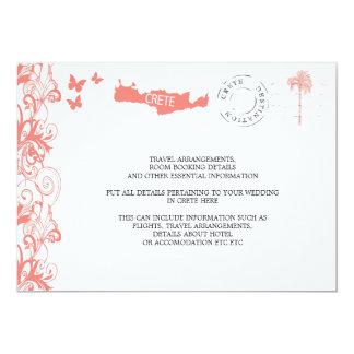 Crete Wedding Travel Information Card