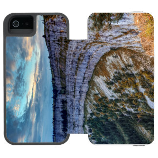 Creux du Van rocky cirque, Switzerland Incipio Watson™ iPhone 5 Wallet Case