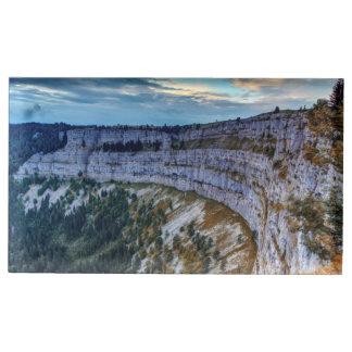 Creux du Van rocky cirque, Switzerland Place Card Holder