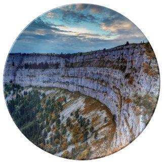Creux du Van rocky cirque, Switzerland Plate