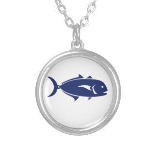 Crevalle Jack Retro Silver Plated Necklace