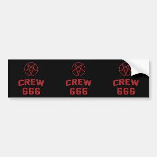 Crew 666 Pentagram Bumper Sticker