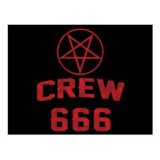 Crew 666 Pentagram Postcard
