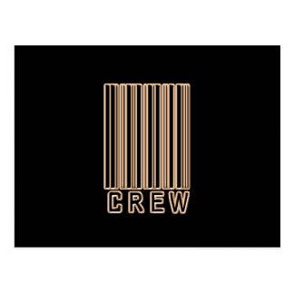 Crew Barcode Postcard