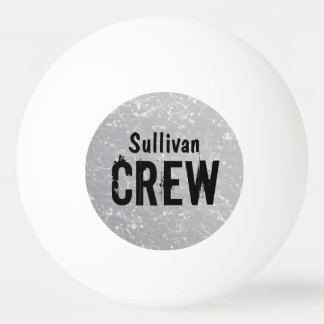 CREW | Group or Family Name | Family Reunion Ping Pong Ball