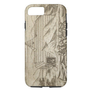 Crew killing and skinning bears, outside  the cabi iPhone 7 case