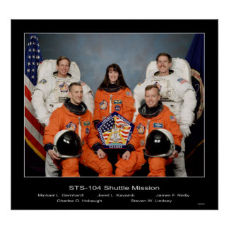 Crew of the - STS-104 Shuttle Mission - 1002 Poster