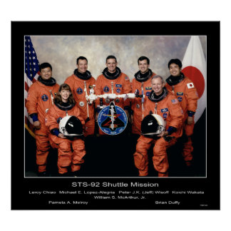 Crew of the STS-92 Shuttle Mission... Poster