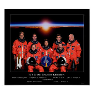 Crew of the STS-95 Shuttle Mission Poster
