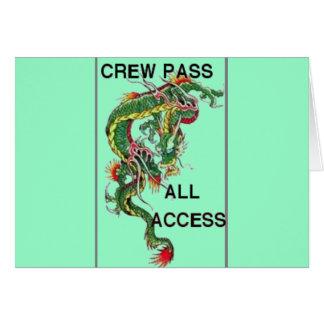crew pass greeting card