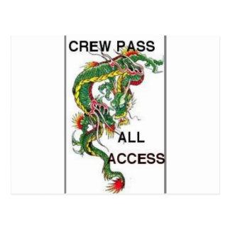 crew pass postcards