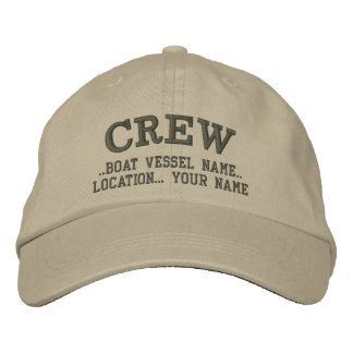 CREW Personalize Your Boat Your Name Embroidered Hat