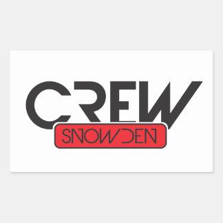 Crew Snowden Sticker
