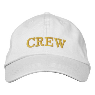 CREW White Basic Adjustable Cap Embroidered Hat