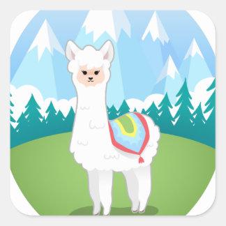 Cria The Alpaca Square Sticker