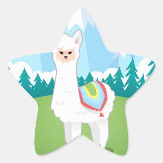 Cria The Alpaca Star Sticker